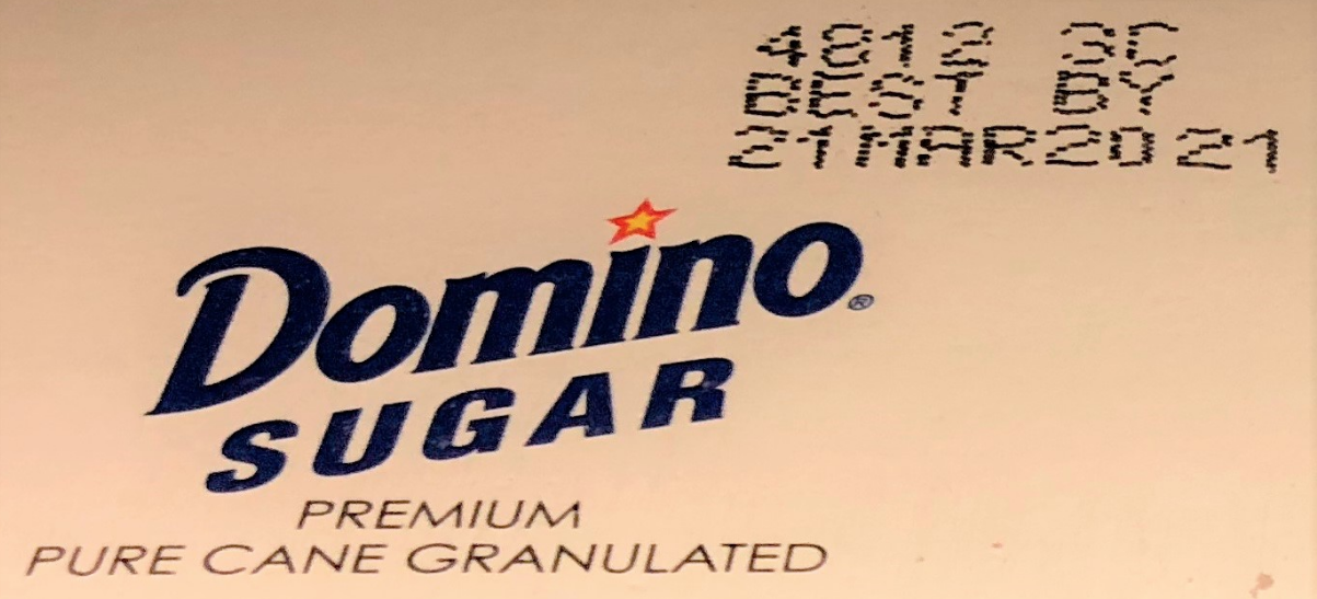 Domino Sugar Box Expiration Date